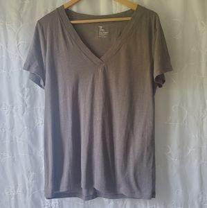 Gap ash brown short sleeve v neck